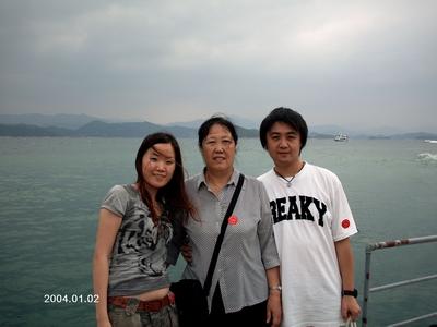 登上观景台俯瞰千岛湖全景